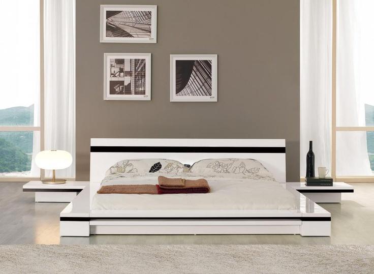 sonata modern low profile bed unique furniture store chicago bedroom furniture stores chicago
