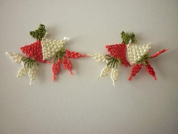 10 HANDMADE TURKISH OYA 10 pcs handmade needle lace by Nakkashe, $10.00