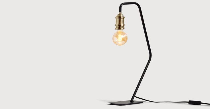 Starkey Table Lamp, Black and Brass