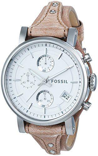 Fossil Damen-Armbanduhr Chronograph Quarz Leder ES3625 - http://uhr.haus/fossil/fossil-damen-armbanduhr-chronograph-quarz-leder