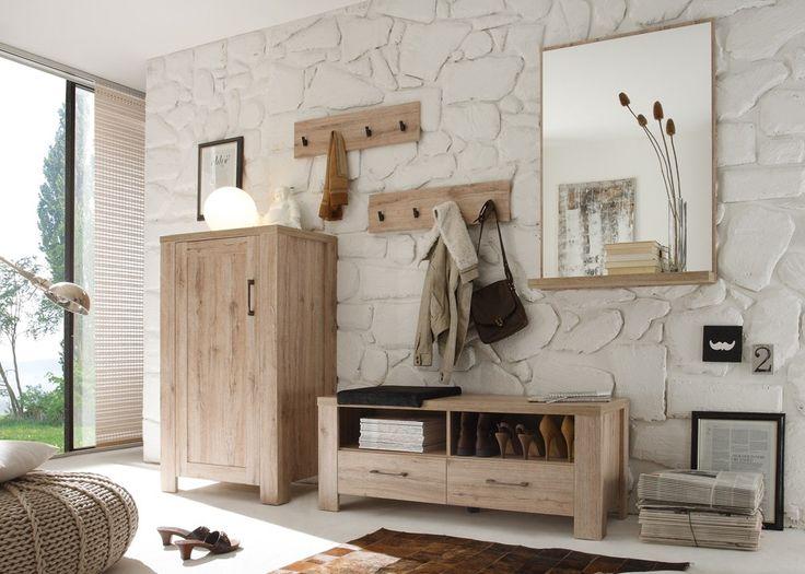 Die besten 20 garderobe eiche ideen auf pinterest for Garderobe echtholz eiche