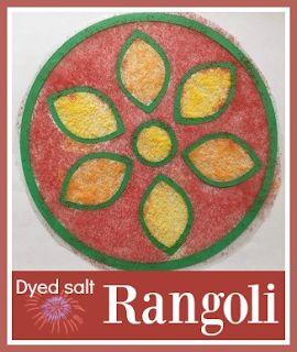 Dyed Salt Rangoli for Diwali using the Cricut Mini