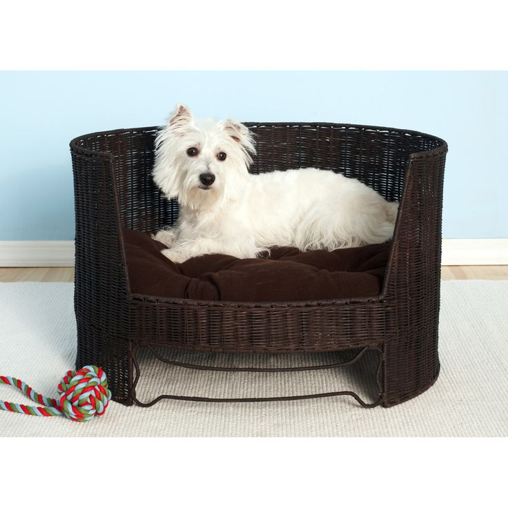 The Refined Canine Dog Day Bed with Indoor Cushion