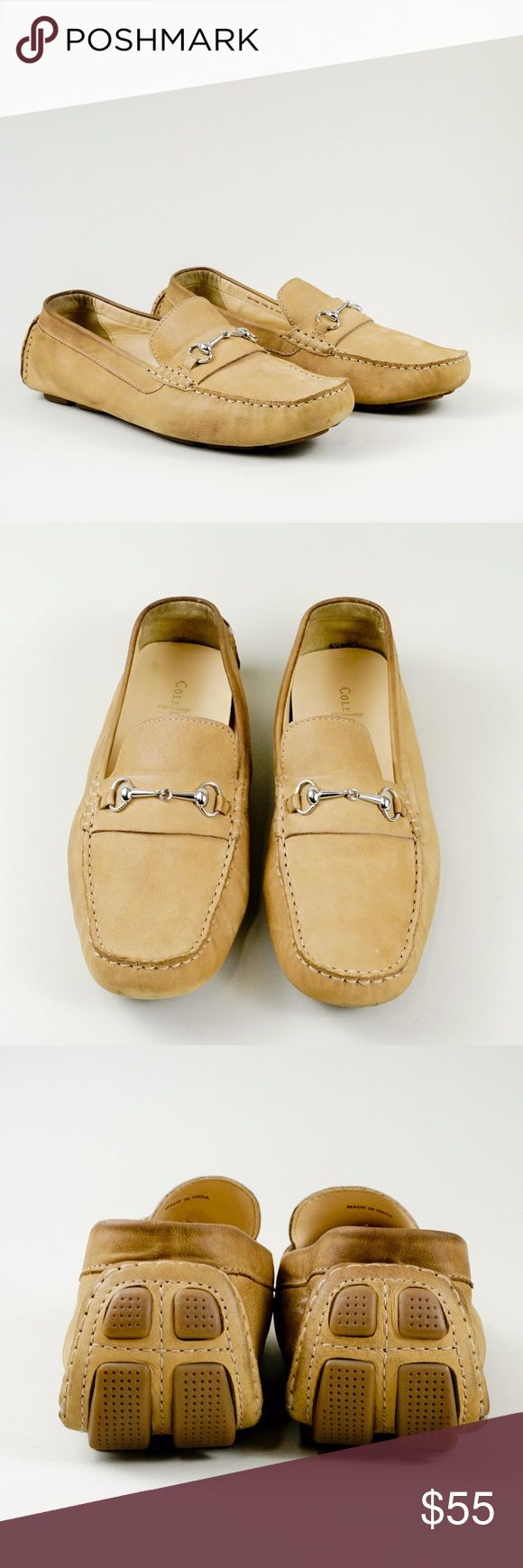 Cole Haan women  horsebit drivers size 10 They are in great condition. Gently worn with light signs of wear. The photos are taken from multiple angles, also include addition details of the condition.  Let me know if you have any questions.  Size: 10 B Color : Tan Cole Haan Shoes Flats & Loafers