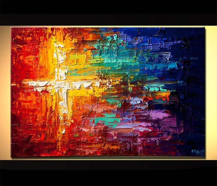 Abstract Art Crosses | Original Abstract Art - Modern Art and Landscape Paintings by Osnat ...