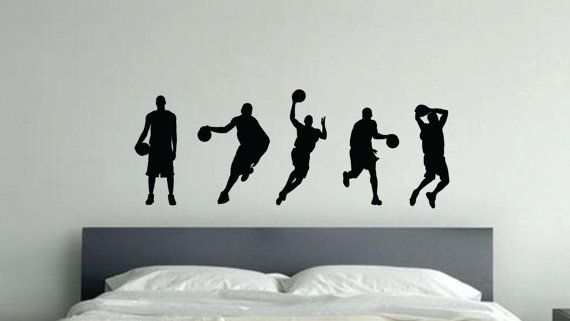 Kids Basketball Decor 5 Basketball Characters by JandiCoGraphix