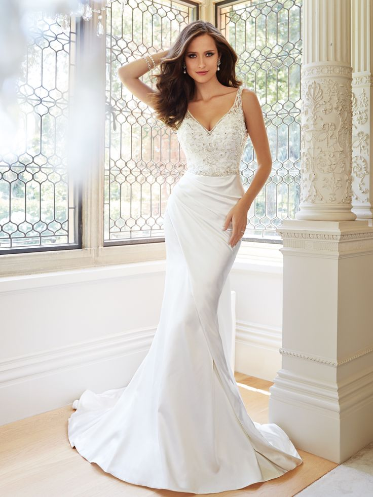 75 Best Fitted Wedding Dresses Satin Taffeta Dupioni Images On