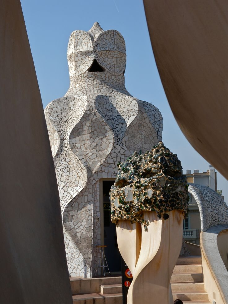 """Barcelona. On top of the roof in """"La Pedrera"""" designed by Architect Antonio Gaudi.... we really enjoyed it !"""