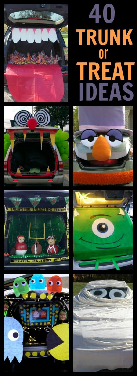 40 awesome trunk or treat ideas fall halloweenhalloween craftshalloween