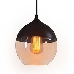 WestMenLights Modern Vintage Glass Ceiling Pendant Light E27 Max 60W 200mm Diameter