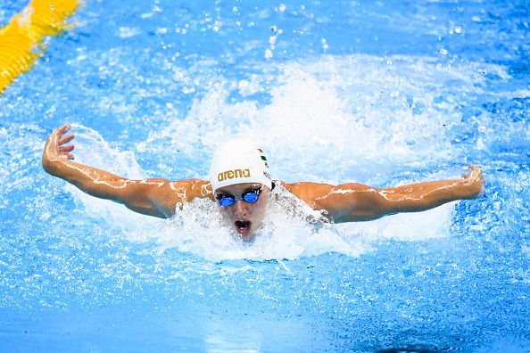 Katinka Hosszu of Hungary competes in the Final of the Women's 400m Individual Medley on Day 1 of the Rio 2016 Olympic Games at the Olympic Aquatics...