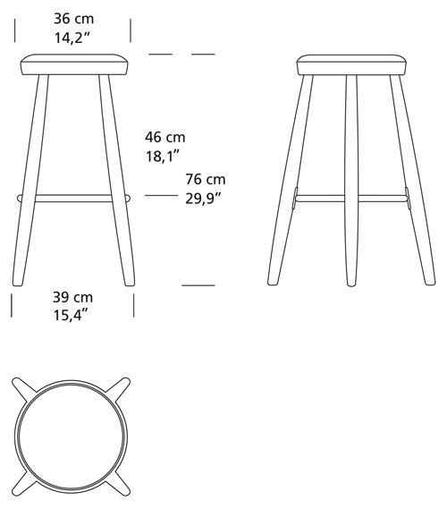 酒吧凳由hans J Wegner Ch56 Ch58 Carl Hansen&s 248 N Design
