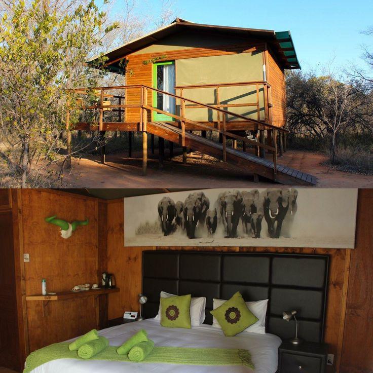 The Green Chalet / Bedroom - DIMA BUSH CAMP  Lodge / Hotel - SOUTH AFRICA  SAFARI