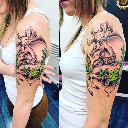 kadın üst kol dövmeleri woman upper arm tattoos  10