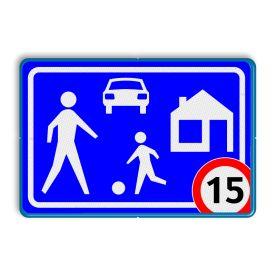 Verkeersbord G05 / A1-xx - Woonerf - Gebieden - Verkeersborden RVV | Informatiebord.nl