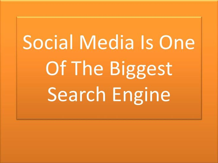 Social Media Is One Of The Biggest Search Engine