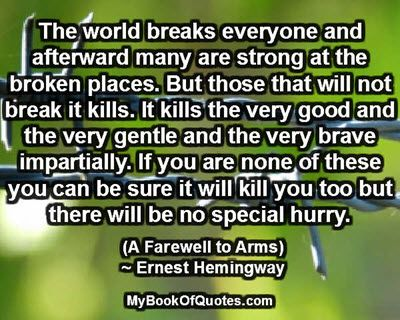 a review of ernest hemingways novel a farewell to arms A farewell to arms and over one million other books are available for amazon  kindle  review fascinatingserves as an artifact of a bygone craft, with  handwritten  this special edition of [hemingway's] classic world war i novel,  first.