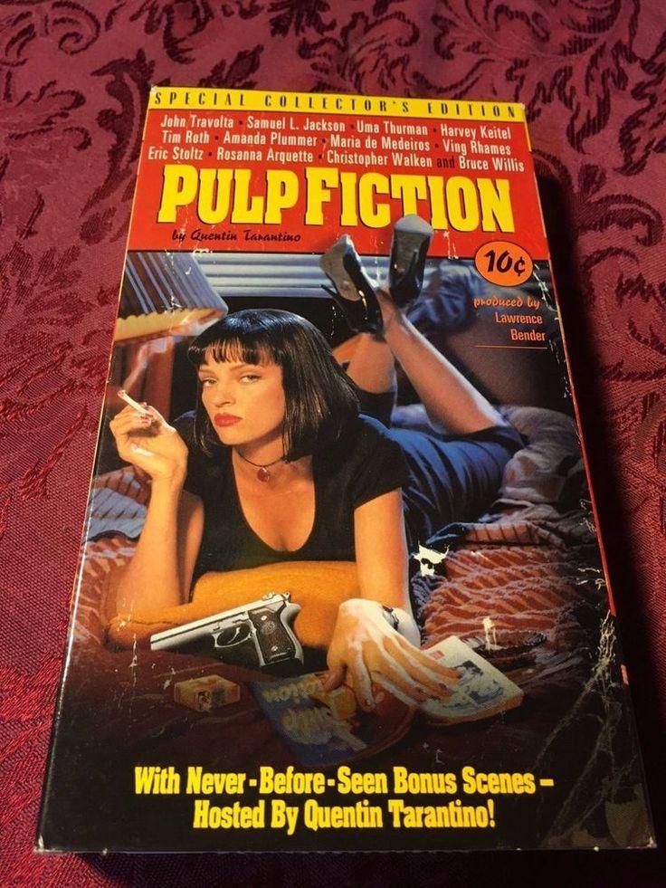 Pulp Fiction (1994 VHS) Quentin Tarantino John Travolta Samuel L Jacksoson