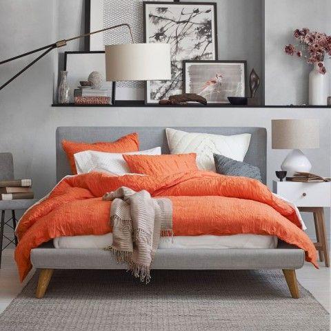 Mod Upholstered Bed - lovely..