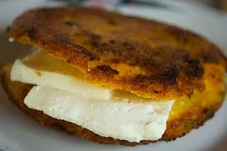 Arepa De Maiz Calentado one of my favorite with Queso Costeno