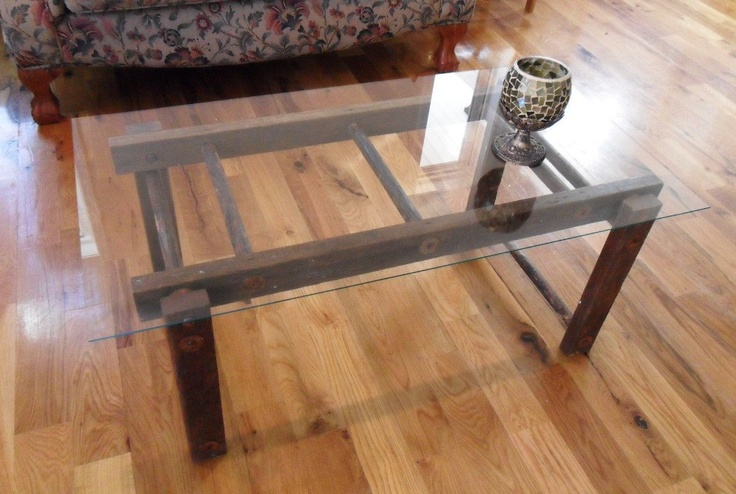 Repurposed ladder coffee table repurpose pinterest for Ladder coffee table