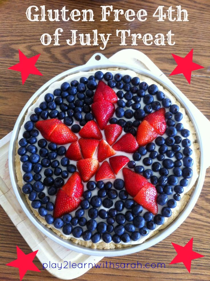 gluten free fourth of july cake