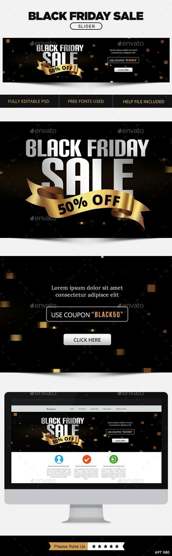 Black Friday Sale Slider Template PSD. Download here: http://graphicriver.net/item/black-friday-sale-slider/13547145?ref=ksioks