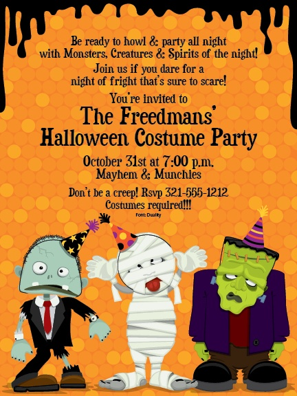 19 best halloween party invitations images on pinterest party creeps halloween party invitations by paper so pretty invitation box stopboris Gallery