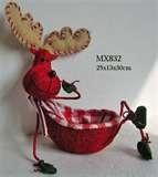 Christmas Moose basket