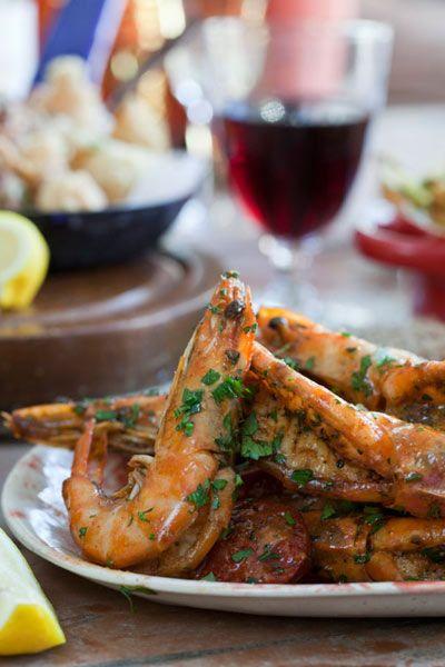 Spanish Spiced & Beer Marinated Prawns with Chorizo | Crush Magazine