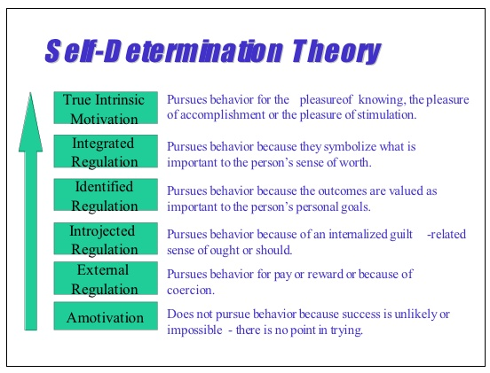 self determination theory in teaching This paper explains the theoretical foundation of self-determination theory (sdt  deci  can be used in a communicative language teaching (clt) setting or.