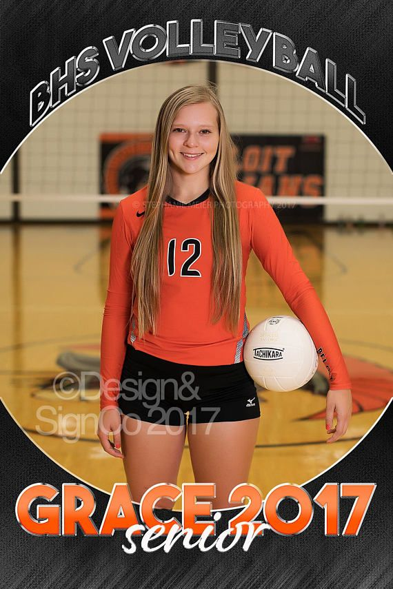 Senior Banner Template Volleyball Football Sports 24x36 Inch Etsy Senior Banner Volleyball Senior Pictures Volleyball Photography