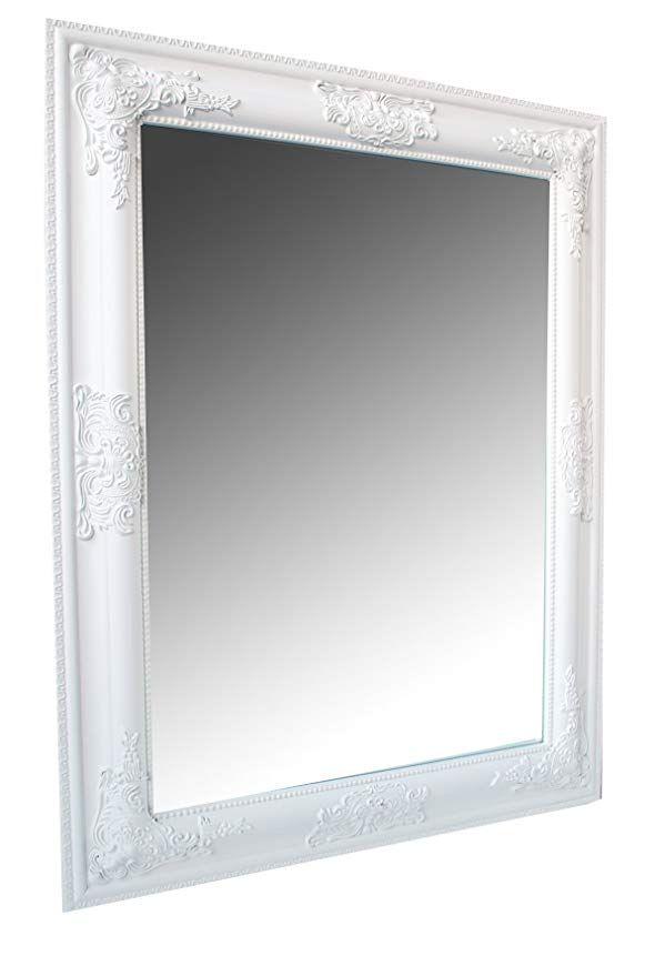 Spiegel Wandspiegel Weiss Barock Leila 65 X 50 Cm Wandspiegel