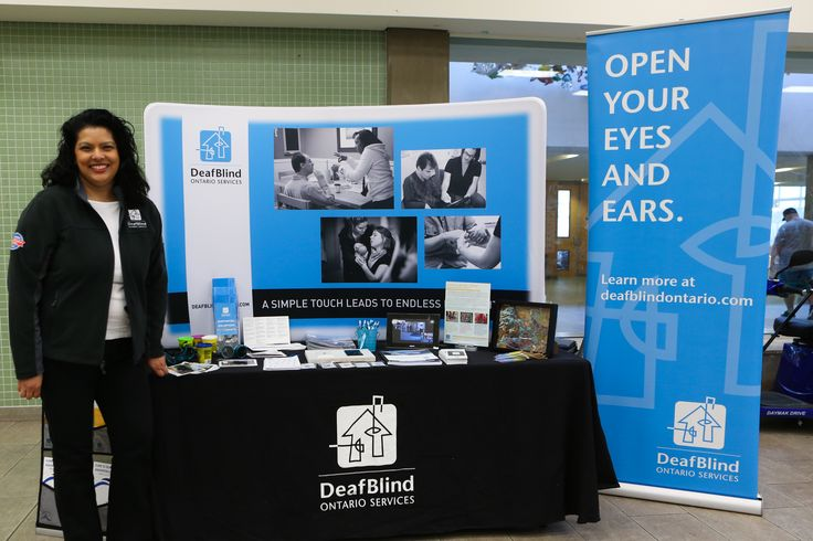 We had a great time at the Vaughn Accessibility Fair earlier this month! Visit www.dbco.ca for more Deafblind Awareness Month events near you! #MakeAWave