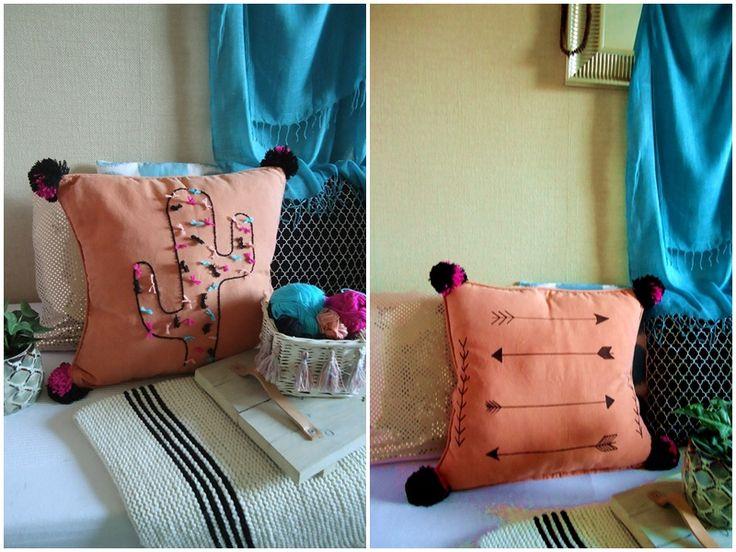 czas oscrapowany: Poduszka DIY z kaktusem