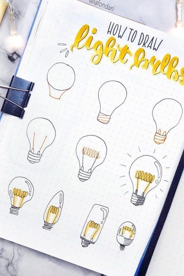Step By Step Bullet Journal Doodle Tutorials Vol.1 #cuteideas Want to learn how …
