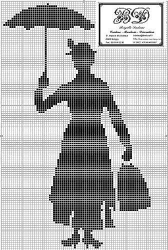 free cross stitch chart: Cross Stich, Cross Stitch Disney, Crossstitch, Marypoppins, Mary Poppins Cross Stitch, Stitch Mary, Cross Stitches