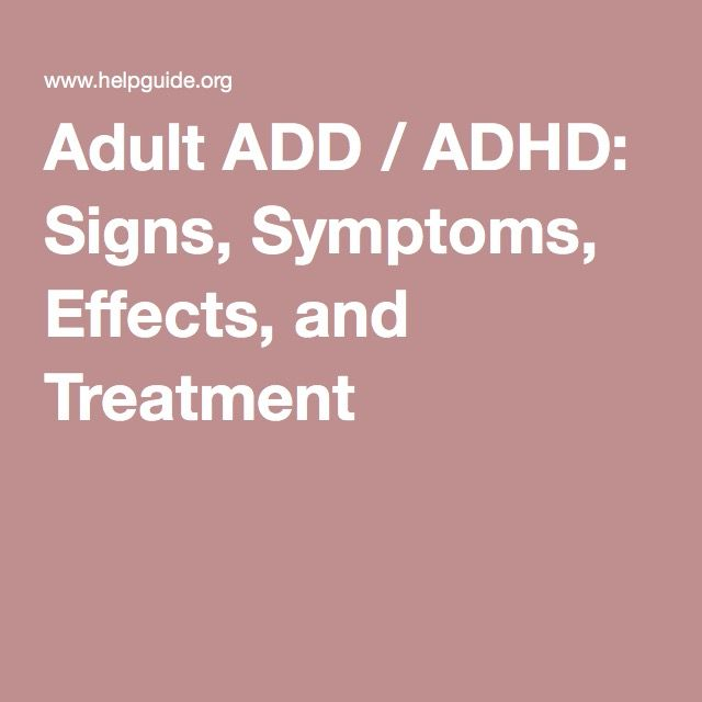 Adhd treatment adult