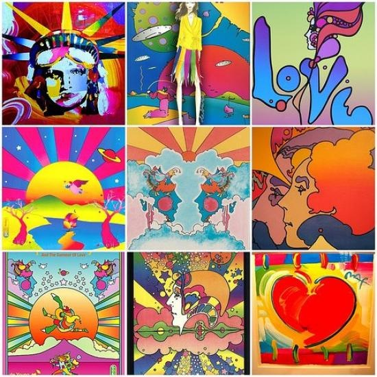 love vintage psychedelic poster artist Peter Max...
