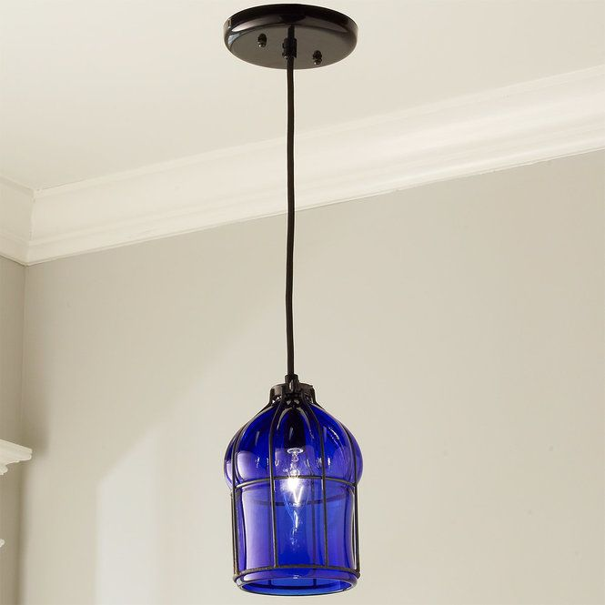 Check out Umanoff Hand-Blown Glass Cage Pendant from Shades of Light