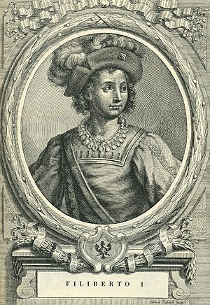 Philibert I (1465-1482), surnamed the Hunter, was the son of Amadeus IX, Duke of Savoy and Yolande of Valois. Philibert was Duke of Savoy from 1472 to 1482.