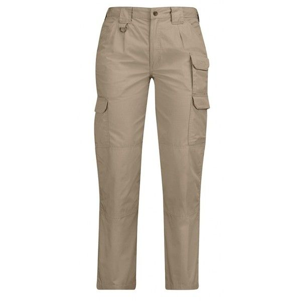 PROPPER Women's Tactical Pant (325 SEK) ❤ liked on Polyvore featuring pants, brown trousers, brown pants, wet look pants and shiny pants