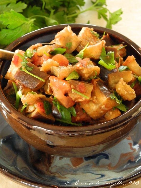 Aubergines à la marocaine   Blog de cuisine bio : Le cri de la courgette...
