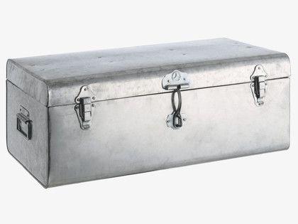 TRUNK METALLICS Metal Large galvanised storage trunk - HabitatUK