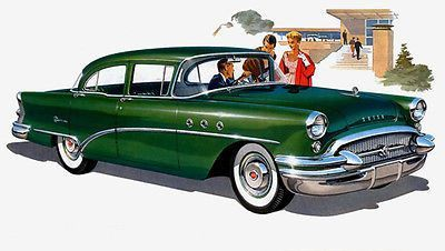 1955 Buick Sedan - Promotional Advertising Poster
