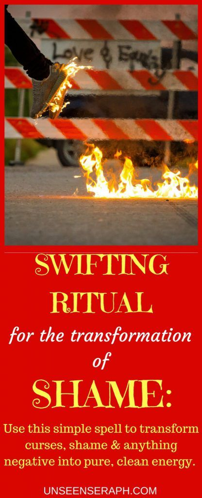 Learn all about the Swifting Ritual -a staple in any witch's arsenal of spells & rituals- and how to use it to transform shame, guilt, anger, negative emotions & energies and even curses and psychic attacks into pure, clean energy you can use towards any goal or intention you want to manifest- all in one ritual! Very easy to cast- requires only 3 candles & salt. Unseen Seraph | Magick | Witchcraft | Block Removal | Transformation