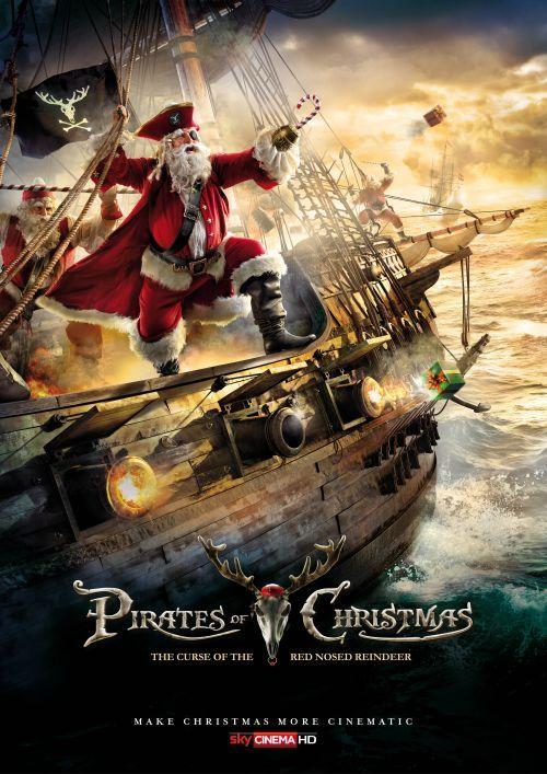 sky propaganda natal papai noel filmes de ação poster piratas do caribe