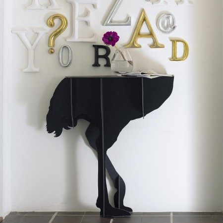 Black Ostrich Wall Console - View All Home Decoration - Home Decoration - Home Accessories