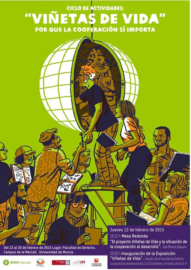 El acto tendrá lugar el jueves a las 19:15 horas en la Sala Mariano Baquero de la Facultad de Letras, en el campus La MercedLa exposición forma parte de las actividades del 20º aniversario de la Coordinadora de ONG de la Región de Murcia  http://www.eldiario.es/murcia/sociedad/Oxfam-Intermon-Murcia-Vinetas-Vida_0_354865253.html