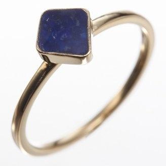 Lapis diamond shape ring / POPSUGAR Shopping: Agete